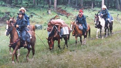 1990 Pack trip to Inks Lake
